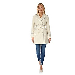 Yumi - Cream Contrast Trench Coat