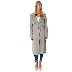Yumi - GREY Slouch Trench Coat