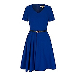 Yumi - Blue pleated day dress