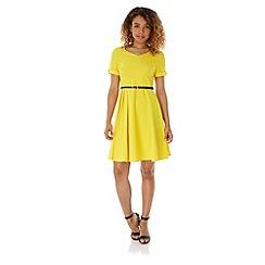 Yumi - Yellow Pleated Day Dress
