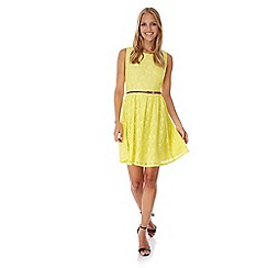 Yumi - Yellow Lace Day Dress
