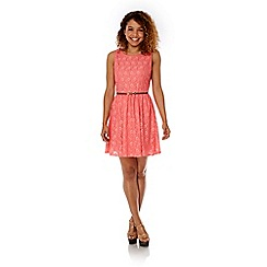 Yumi - Pink lace day dress