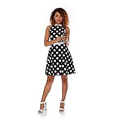 Yumi - Black Polka Dot Shirt Dress