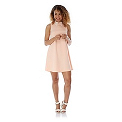 Yumi - Pink Lace Collar Party Dress