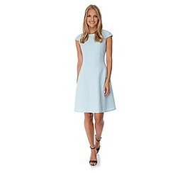 Yumi - Blue Textured Ponte Party Dress