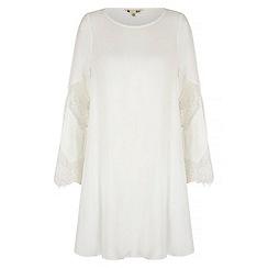 Yumi - Cream 60s Babydoll Tunic Dress