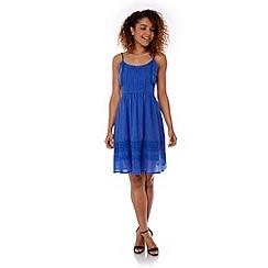 Yumi - Blue Cotton Crochet Summer Dress