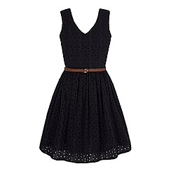 Yumi - Black Broderie Anglaise Summer Dress