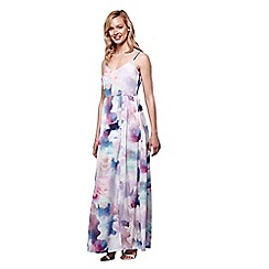 Yumi - Multicoloured  Cloud Print Maxi Dress