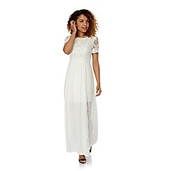Yumi - Cream Lace Maxi Dress