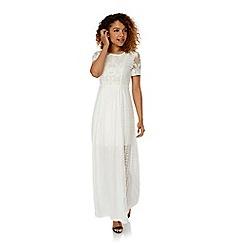 Yumi - Cream Lace Maxi Dress