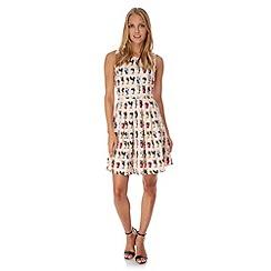 Yumi - Pink Cactus Print Skater Dress