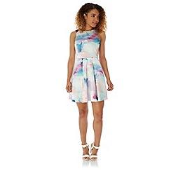 Yumi - Multicoloured  Cloud Print Party Dress