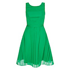 Yumi - Green stripe organza party dress