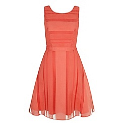 Yumi - Pink stripe organza party dress
