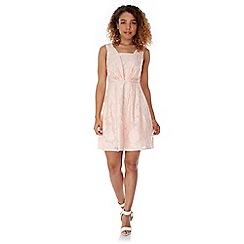 Yumi - Pink Floral Jacquard Party Dress