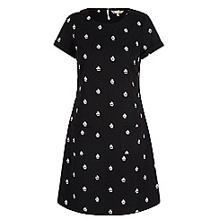 Yumi - Black boat print tunic dress