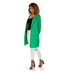 Yumi - Green Lace Tailored Jacket