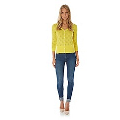 Yumi - Yellow Boat Pointelle Cardigan