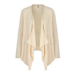Yumi - Cream Lace Back Waterfall Cardigan