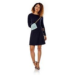 Yumi - Blue Handbag Print Jumper