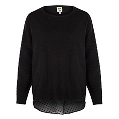 Yumi - Black Sheer Back Jumper
