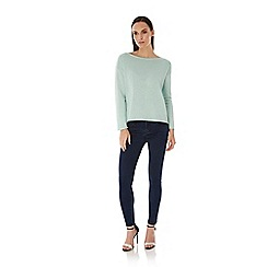 Yumi - Green Lurex Open Back Jumper