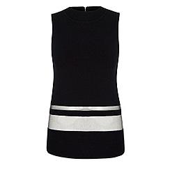 Yumi - Black Sheer Stripe Top