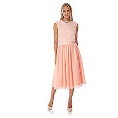Yumi - Pink Tulle Midi Skirt