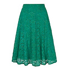 Yumi - Green lace midi skirt