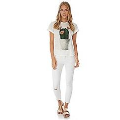 Yumi - Cream Cactus Print T-Shirt