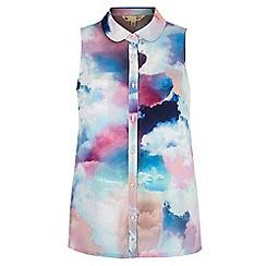 Yumi - Multicoloured  Cloud Print Sleeveless Blouse