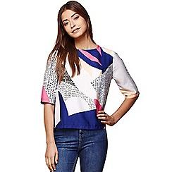 Yumi - Multicoloured nordic shell top