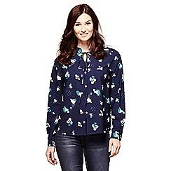 Yumi - Blue abstract print shirt