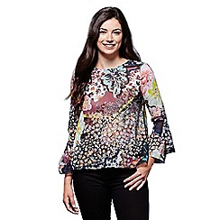 Yumi - Multicoloured mixed botanical georgette top
