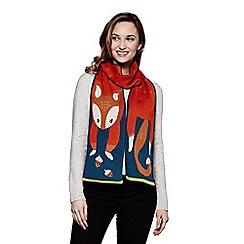 Yumi - Multicolor squirrel knit scarf