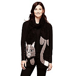 Yumi - Black knitted cat scarf