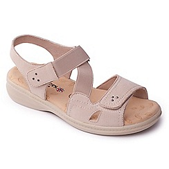Padders - Beige 'Louise' mid heel wide fit slingbacks