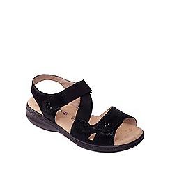 Padders - Black 'Louise' mid heel wide fit slingbacks