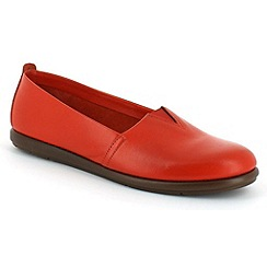 Aerosoles - Dark orange catalan shoe