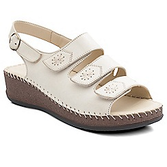 Padders - Beige 'Honey' women's leather sandals