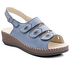 Padders - Blue 'Honey' women's leather sandals