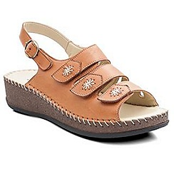 Padders - Tan 'Honey' women's leather sandals