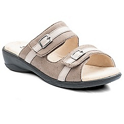 Padders - Beige 'Prima' women's backless sandals