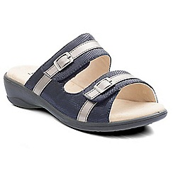 Padders - Navy 'Prima' women's backless sandals