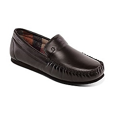 Padders - Brown 'Marino' wide fit moccasins