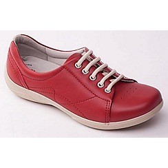 Padders - Red leather 'Jessica' wide fit lace up shoes