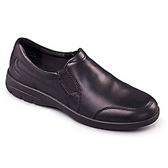 Padders - Black 'Guy' men's leather shoes