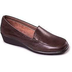 Aerosoles - Dark Brown 'Four William' women's flat leather shoes