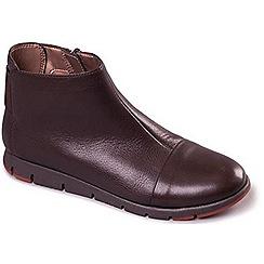 Aerosoles - Dark Brown Aerosoles 'Fast Run' Flat Leather Ankle Boots